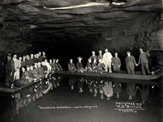 A giant human skeleton is discovered in Mammoth Cave in Kentucky