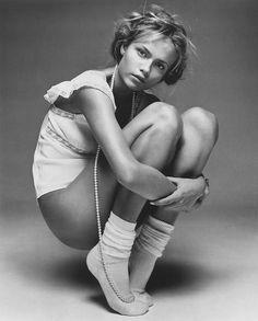 Vogue Paris February 2005 Photographer: Patrick Demarchelier Styling: Emmanuelle Alt Model: Natasha Poly