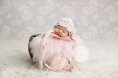 Cotton Baby Hat with Lace Embelishment Pink and by imomzi on Etsy, $25.00