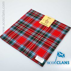 MacBean Tartan Pocket Square. Free Worldwide Shipping Available