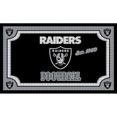 Oakland Raiders Embossed Door Mat - $19.99