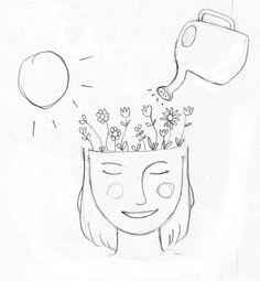 Sketch representing growth & positivity