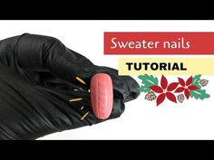 🎄 Sweater nails TUTORIAL | desmynails Sweater Nails, Nail Tutorials, Nails Design, Nail Art, Easy, Sweaters, Pullover, Nail Arts, Sweater