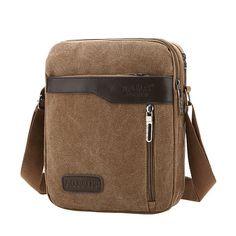 dfe23d2c9a Men Canvas Crossbody Bag Casual Travel Single Shoulder Bag - US 20.76 Messenger  Bag Men