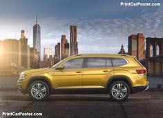 Volkswagen Atlas 2018 poster, #poster, #mousepad