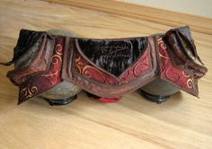Red and Brown - Festival Pocket Belt - Utility belt - Steampunk Inspired