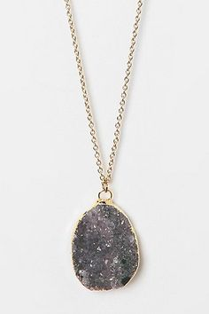 Geode necklace crystal