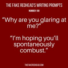 Sign Up For The Newsletter A complete library of the original writing prompts written byThe Fake Redhead Click To Claim The Free eBook feat. TFR's Most Popular Prompts Click To Claim The Fre…