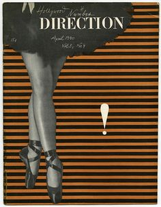 DIRECTION Volume 3, No. 4, April 1940.  Paul Rand photomontage cover design; The Hollywood Number.  www.modernism101.com