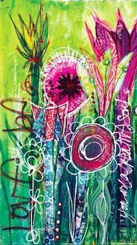 Traci Bautista - always love her mixed media work, and anything with flowers is a winner!