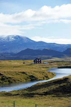 A farmhouse at the foot of the Hekla volcano, known as 'the gateway to hell' in Icelandic folklore. Photo by Lottie Davies
