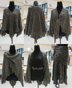 Lacy Wrap-Around Shawl Crochet Pattern. Not quit knitting but yarn is still required.