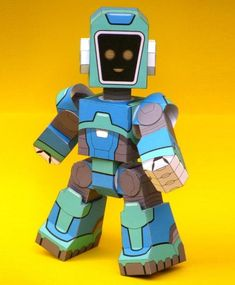 Facebot VSN Dynactron MK IV Robot Paper Toy - by Paper Posables