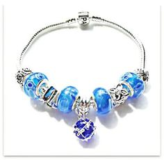 Elegant Sapphire Blue Beaded Bracelet by JannysStorybeads on Etsy, $40.00