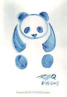 A simple lesson I created on how to paint a panda with watercolors.