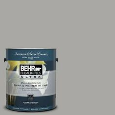 1-Gal. #UL260-7 Cathedral Gray Interior Satin Enamel Paint-775401 at The Home Depot