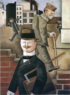 Grosz, George, Grauer Tag Grey Day 1921.