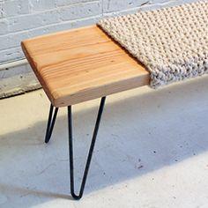 HomeMade Modern EP27 Wood + Wool Bench