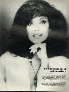 Coupure de Presse Clipping 1987 (1 page) Linda Gray