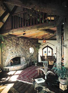 1970s Rustic Living Room Decor