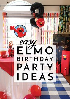 Do you have an Elmo fan in your home? Throw the ultimate toddler birthday bash with these Easy Elmo Birthday Party Ideas!