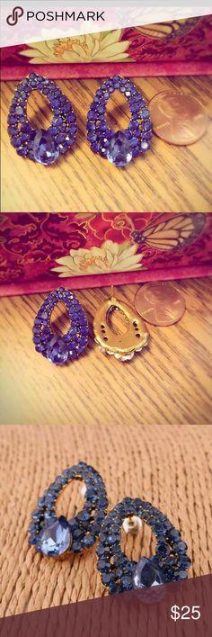 Rita Oval Vintage Earrings - Blue Crystal Stud Nickel free. Stunning. Rita Oval Vintage Earrings - Blue Crystal Stud Asos Jewelry Earrings