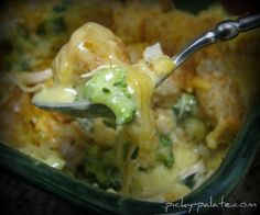 Broccoli, Cheddar, Chicken and Tater Tot Casserole--my kids LOVE LOVE this!