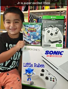 Xbox One S | Sonic The Hedgehog | Xbox Charging Station | Xbox Controller | Little Ruben | Xbox Games | Sonic Racing