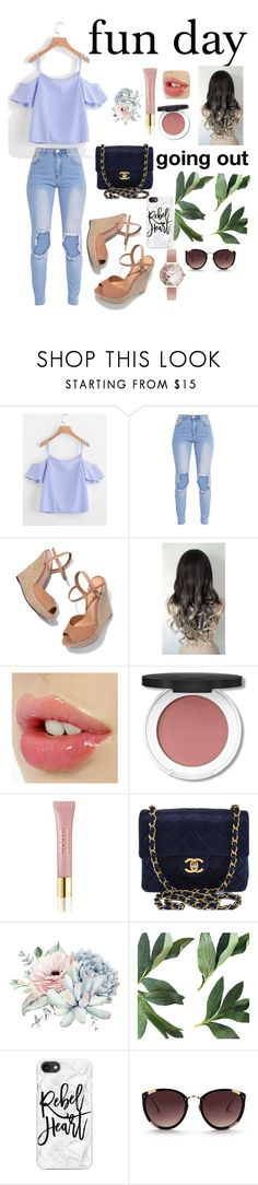 """Girls Night Out"" by joliannmontanez8980 ❤ liked on Polyvore featuring Schutz, AERIN, Chanel, Casetify and Olivia Burton"