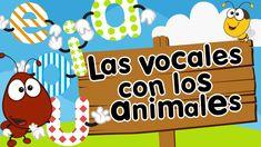 Canción de las vocales AEIOU con animales para niños