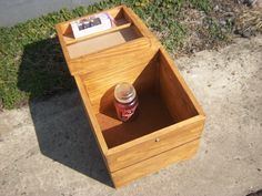 Candle Storage Box Inside Lower View
