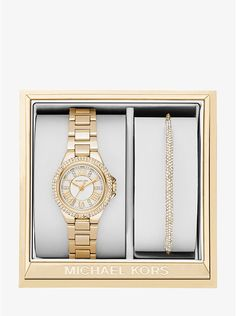 Petite Camille Gold-Tone Watch and Slider Bracelet Set