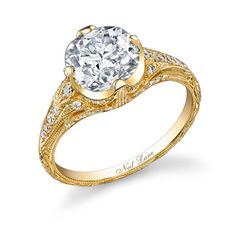 18k yellow gold and diamond engagement #ring by Neil Lane (incidentally the one Miley Cyrus just received!)