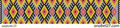 "Схема браслета ""Дух огня"" / Peyote pattern | - Схемы для бисероплетения / Free bead patterns -"