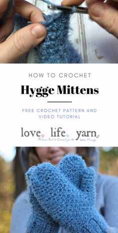 Create the warmest and squishiest mittens yet with the Red Heart Hygge yarn and this free crochet pattern for the Hygge Mittens. A full video tutorial will walk you through every step. #freecrochetpattern #crochetmittens