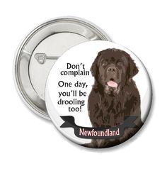 Newfoundland Dog Button by neckcandycollars on Etsy, $2.50