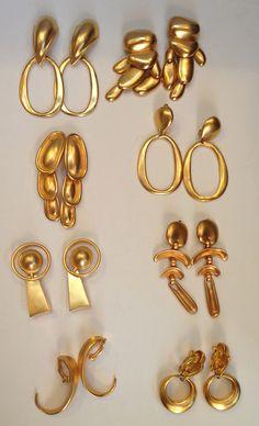 RLM Bold Gold earrings 1985-89