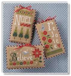 Lizzie Kate Snippet, 2012 Christmas Ornaments counted cross stitch chart pattern