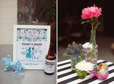 Sombreros y Rancheros Hat Party Bridal Shower ⭐️ classy sombrero / cute place cards for food
