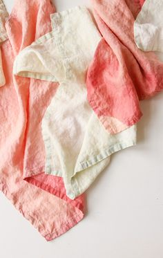 How to Create a Subtle Acid Wash Pattern on Linens with Bleach