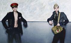 Vman Magazine, Military Inspired Fashion, Fashion Images, Alternative Fashion, Karl Lagerfeld, Captain Hat, Stylists, Punk, Fall