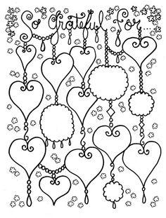 Free Colouring Page by Artist Deborah Muller of Chubby Mermaid designs.