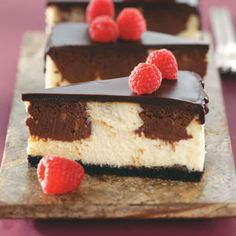Chocolate and cheesecake
