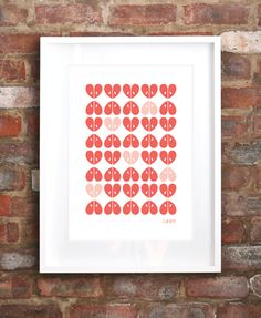 """Limited edition """"Apples"""" screen print by iSpy Good Enough To Eat, Silk Screen Printing, Coral, The Originals, Frame, Prints, Apples, Design, Home Decor"""