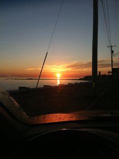 Sun rise in Brant Rock.
