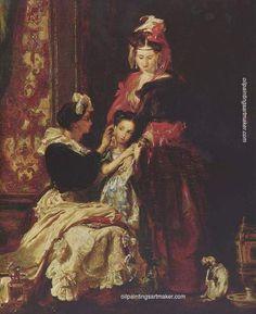 Madame de Pompadour - The First Ear-Ring by David Wilkie David Wilkie, Art Terms, Art Paintings For Sale, Academic Art, Found Art, Portraits, Art Database, Art Uk, Unique Art