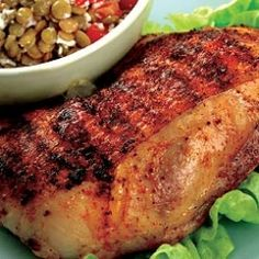 BBQ chicken and lentil recipe - a protein-rich meal that's sure to satisfy!