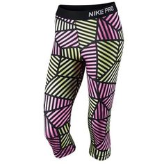 Nike Pro Capris Compression capris with web allover print and elastic logo waistband.  🚫Trades ✅Price Firm ✅Bundle and save Nike Pants Capris