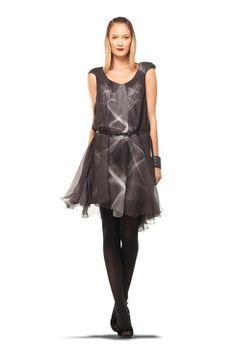Love...however, cap sleeves and e don't get along...Leon Max Print Silk Chiffon Cap Sleeve Dress by MAXSTUDIO.COM on @HauteLook