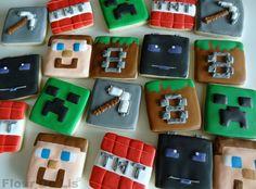 Minecraft Cookies, by Flour De Lis